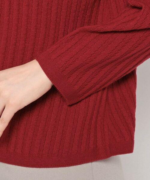 esche / エッシュ ニット・セーター | ホールガーメント(R)柄編みボートネックニット | 詳細5