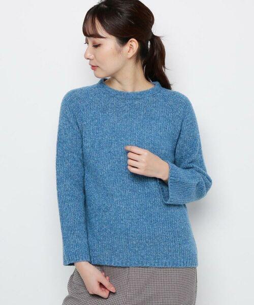 esche / エッシュ ニット・セーター | ウール混ホールガーメント(R)ニット(ブルー(092))