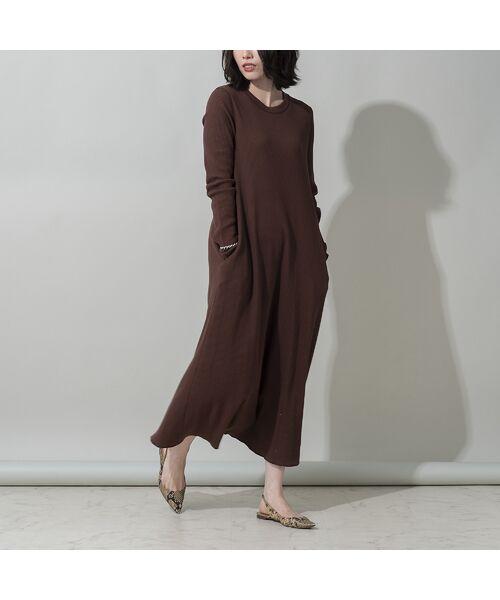 EUCLAID/エウクレイド 【her EUCLAID】バックホックワンピース ブラウン 36