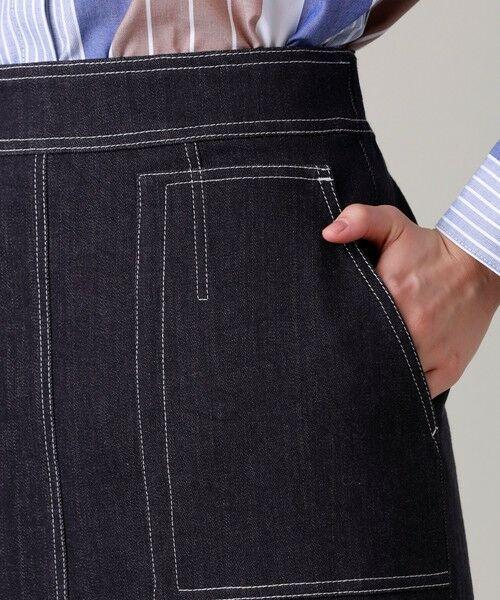 EVEX by KRIZIA  (大きいサイズ) / エヴェックス バイ クリツィア (オオキイサイズ) ロング・マキシ丈スカート | 【L】【ウォッシャブル】デニムタイトスカート | 詳細6