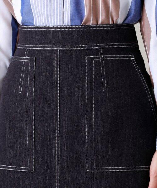 EVEX by KRIZIA  (大きいサイズ) / エヴェックス バイ クリツィア (オオキイサイズ) ロング・マキシ丈スカート | 【L】【ウォッシャブル】デニムタイトスカート | 詳細7