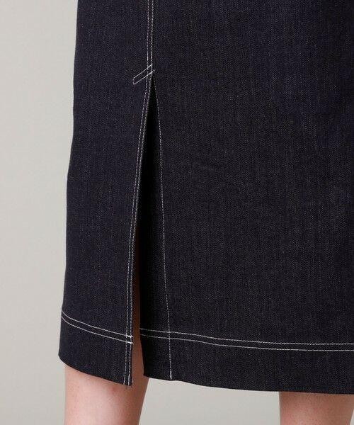 EVEX by KRIZIA  (大きいサイズ) / エヴェックス バイ クリツィア (オオキイサイズ) ロング・マキシ丈スカート | 【L】【ウォッシャブル】デニムタイトスカート | 詳細9