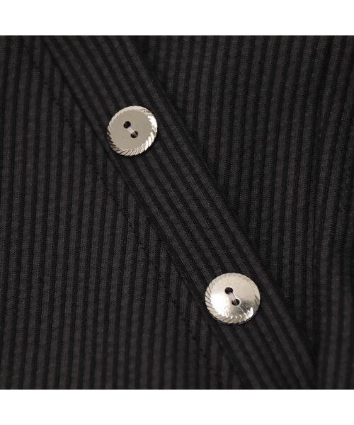 Fitme Moi / フィットミーモア ショート・ハーフ・半端丈パンツ   サッカーストライプ・前ボタンワイドパンツ   詳細11