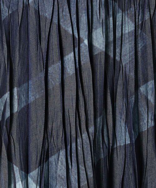 Gabardine K.T / ギャバジンK.T デニムスカート | キュプラデニム アーガイル柄プリーツスカート | 詳細6