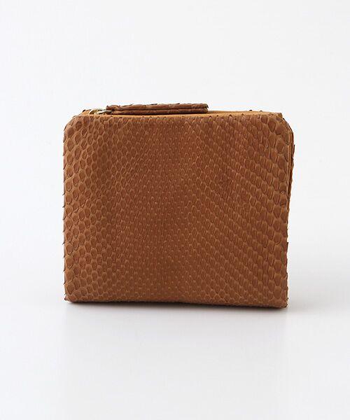 genten / ゲンテン 財布・コインケース・マネークリップ | genten ゲンテン ダイヤモンドパイソンII 二つ折り財布(チャ)