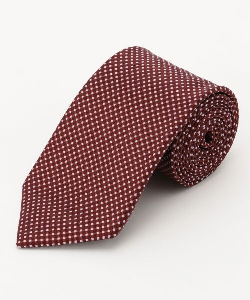 gotairiku / ゴタイリク ネクタイ | 【五大陸/日本製】西陣織ネクタイ バスケット織り(レッド系8)
