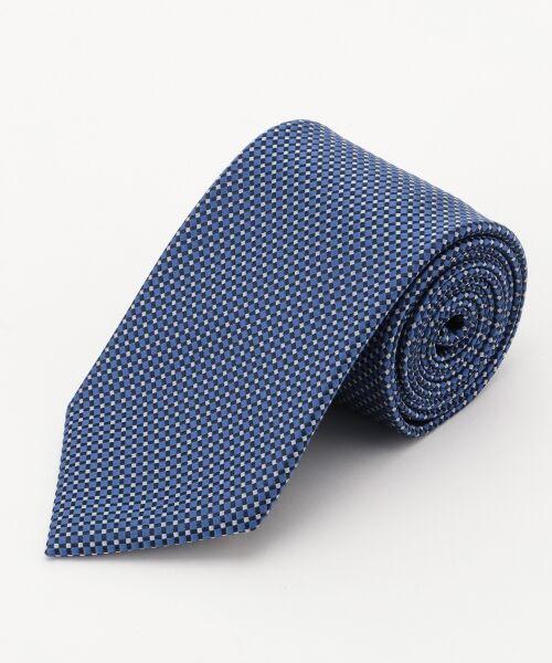 gotairiku / ゴタイリク ネクタイ | 【五大陸/日本製】西陣織ネクタイ バスケット織り(ブルー系8)