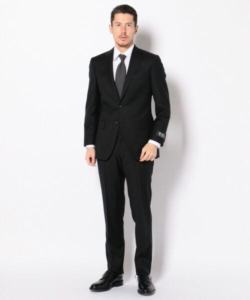 セール】 【DORMEUIL】ジェントルブリーズ ブラックスーツ シャドウ ...