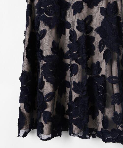GRACE CONTINENTAL / グレースコンチネンタル ドレス | 配色ローズレースワンピース | 詳細5