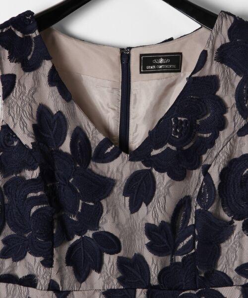 GRACE CONTINENTAL / グレースコンチネンタル ドレス | 配色ローズレースワンピース | 詳細1