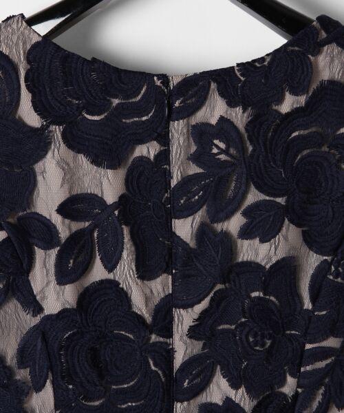 GRACE CONTINENTAL / グレースコンチネンタル ドレス | 配色ローズレースワンピース | 詳細3