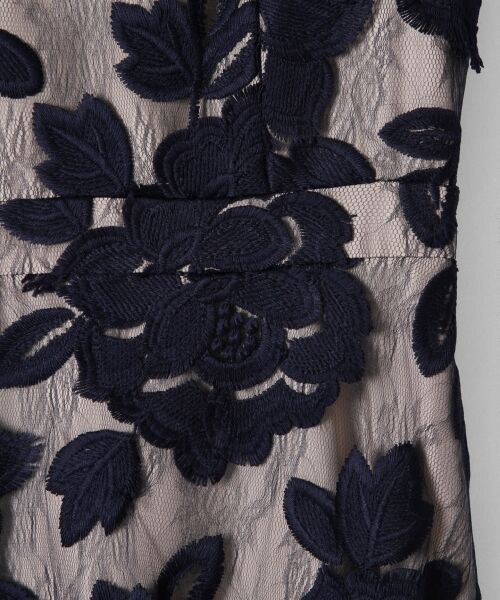 GRACE CONTINENTAL / グレースコンチネンタル ドレス | 配色ローズレースワンピース | 詳細4