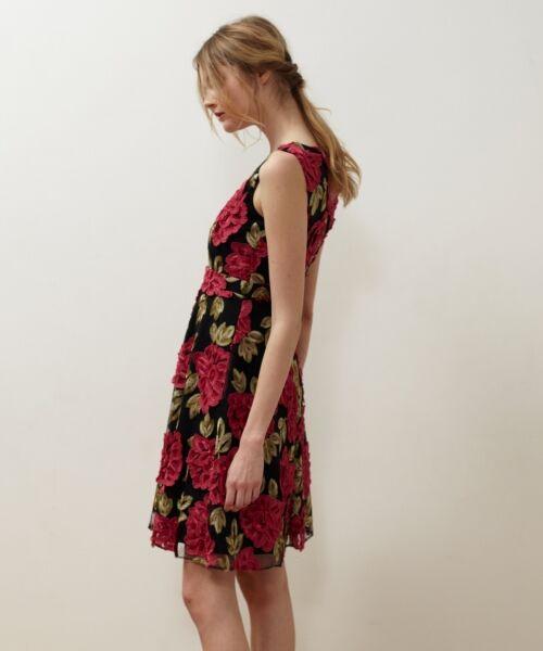 GRACE CONTINENTAL / グレースコンチネンタル ドレス | 配色ローズレースワンピース | 詳細6