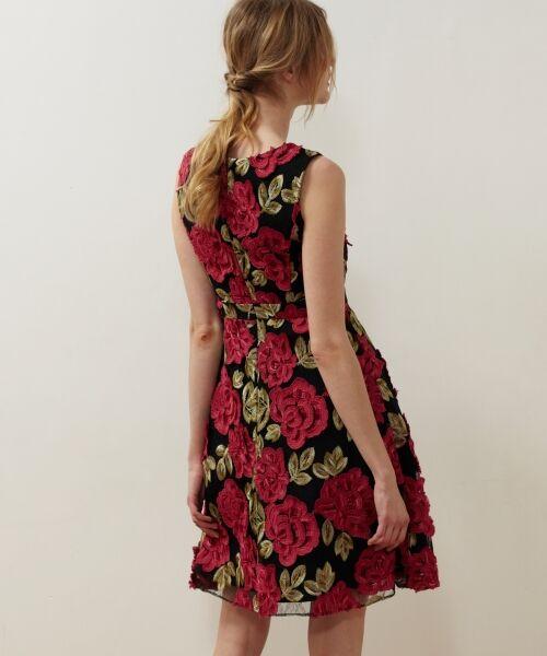 GRACE CONTINENTAL / グレースコンチネンタル ドレス | 配色ローズレースワンピース | 詳細7
