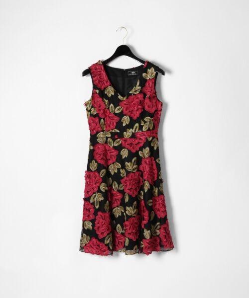 GRACE CONTINENTAL / グレースコンチネンタル ドレス | 配色ローズレースワンピース | 詳細8