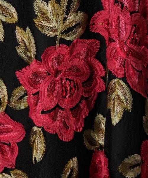 GRACE CONTINENTAL / グレースコンチネンタル ドレス | 配色ローズレースワンピース | 詳細10