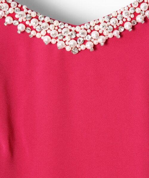 GRACE CONTINENTAL / グレースコンチネンタル ドレス | フレアスリーブパールワンピース | 詳細1