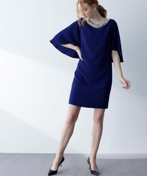 GRACE CONTINENTAL / グレースコンチネンタル ドレス | フレアスリーブパールワンピース | 詳細6
