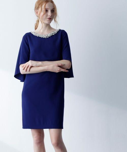 GRACE CONTINENTAL / グレースコンチネンタル ドレス | フレアスリーブパールワンピース | 詳細7