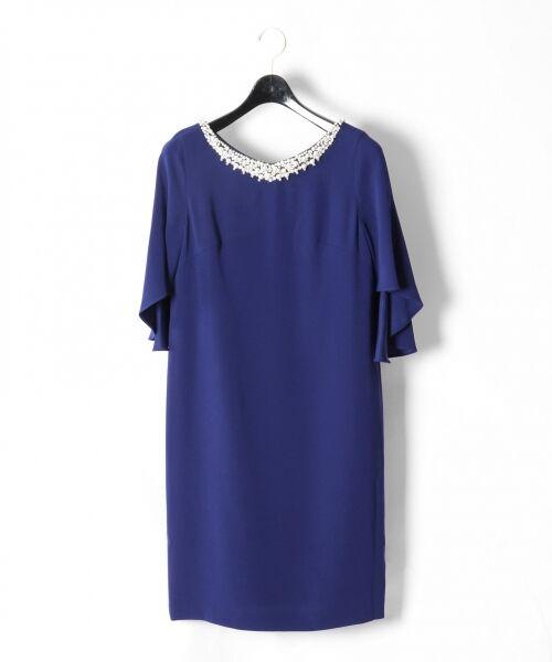 GRACE CONTINENTAL / グレースコンチネンタル ドレス | フレアスリーブパールワンピース | 詳細8