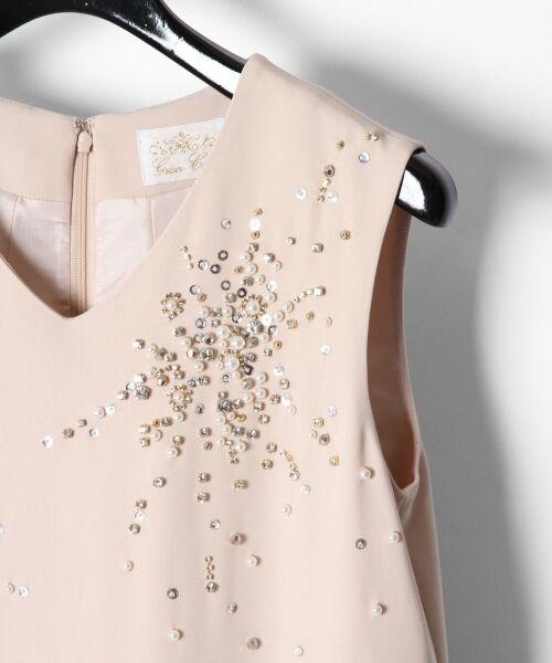 GRACE CONTINENTAL / グレースコンチネンタル ドレス | ビジューAラインワンピース | 詳細1