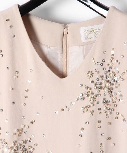 GRACE CONTINENTAL / グレースコンチネンタル ドレス | ビジューAラインワンピース | 詳細3