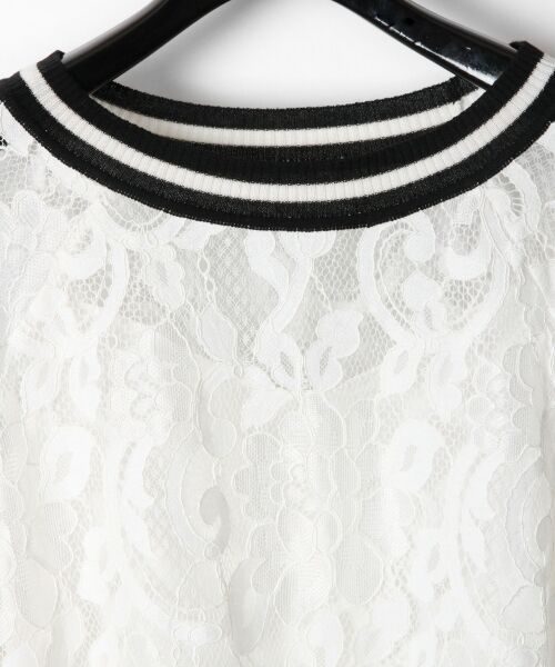 GRACE CONTINENTAL / グレースコンチネンタル Tシャツ   フラワーレースライントップ   詳細4