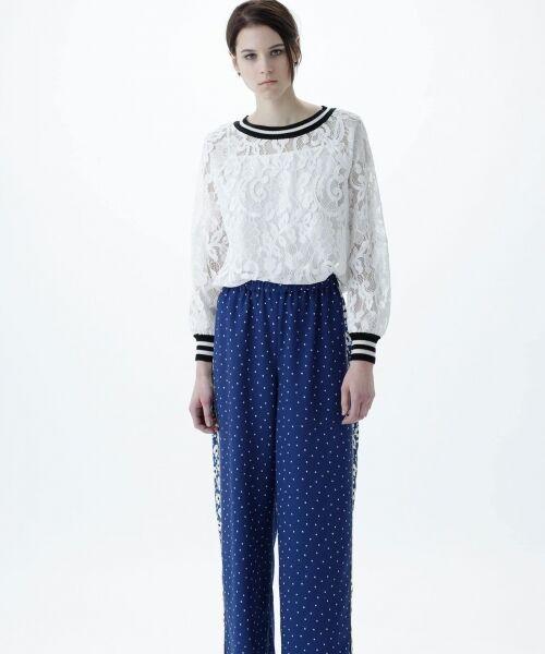 GRACE CONTINENTAL / グレースコンチネンタル Tシャツ | フラワーレースライントップ | 詳細1