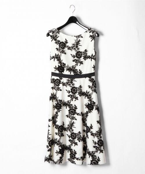 GRACE CONTINENTAL / グレースコンチネンタル ドレス | レースフラワー刺繍ワンピース | 詳細3