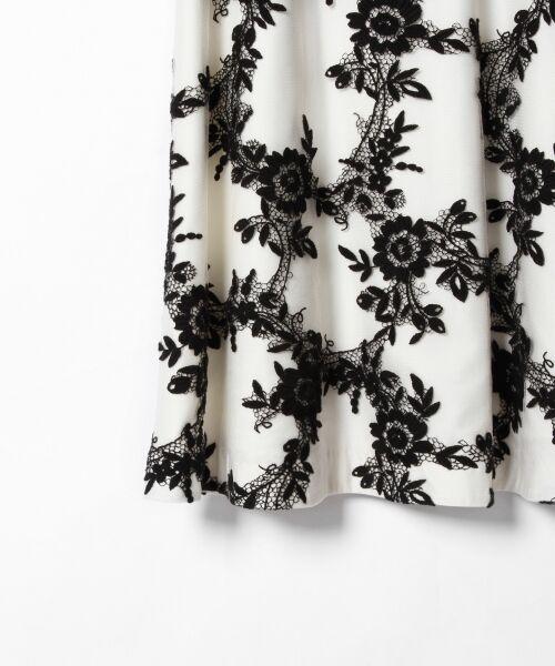 GRACE CONTINENTAL / グレースコンチネンタル ドレス | レースフラワー刺繍ワンピース | 詳細5