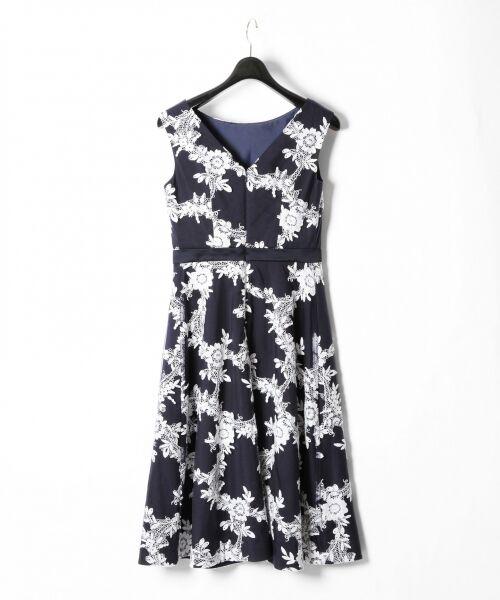 GRACE CONTINENTAL / グレースコンチネンタル ドレス | レースフラワー刺繍ワンピース | 詳細10