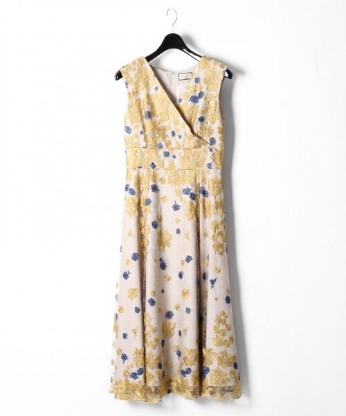 GRACE CONTINENTAL / グレースコンチネンタル ドレス | バイカラーフラワーチュールワンピース | 詳細3