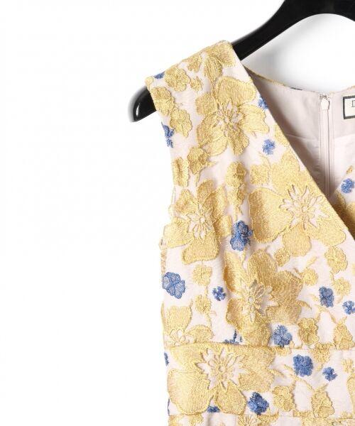 GRACE CONTINENTAL / グレースコンチネンタル ドレス | バイカラーフラワーチュールワンピース | 詳細4