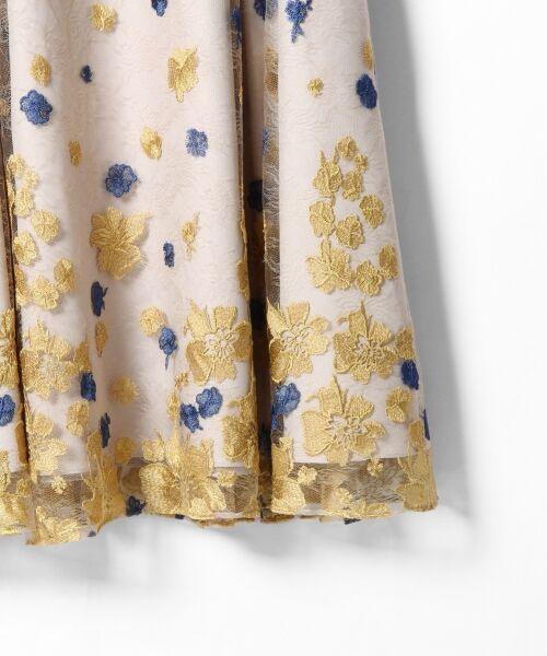 GRACE CONTINENTAL / グレースコンチネンタル ドレス | バイカラーフラワーチュールワンピース | 詳細5