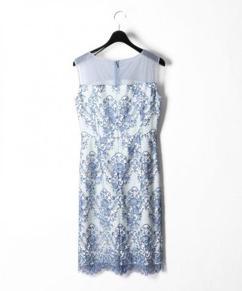 GRACE CONTINENTAL / グレースコンチネンタル ドレス | チュールレース刺繍タイトワンピース | 詳細5