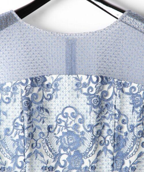 GRACE CONTINENTAL / グレースコンチネンタル ドレス | チュールレース刺繍タイトワンピース | 詳細1