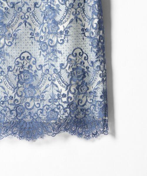 GRACE CONTINENTAL / グレースコンチネンタル ドレス | チュールレース刺繍タイトワンピース | 詳細2