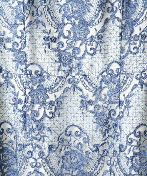 GRACE CONTINENTAL / グレースコンチネンタル ドレス | チュールレース刺繍タイトワンピース | 詳細3