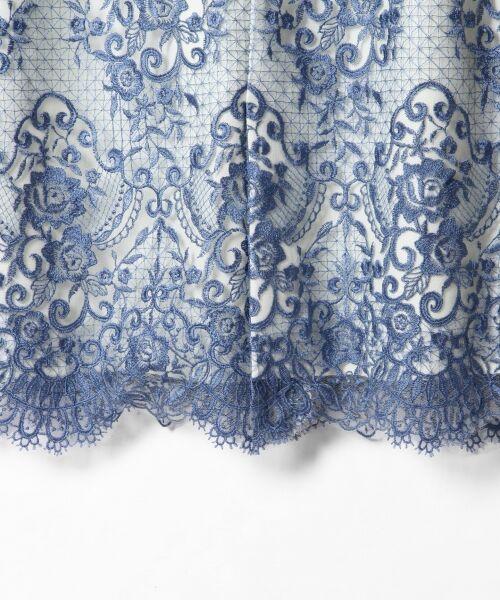 GRACE CONTINENTAL / グレースコンチネンタル ドレス | チュールレース刺繍タイトワンピース | 詳細4