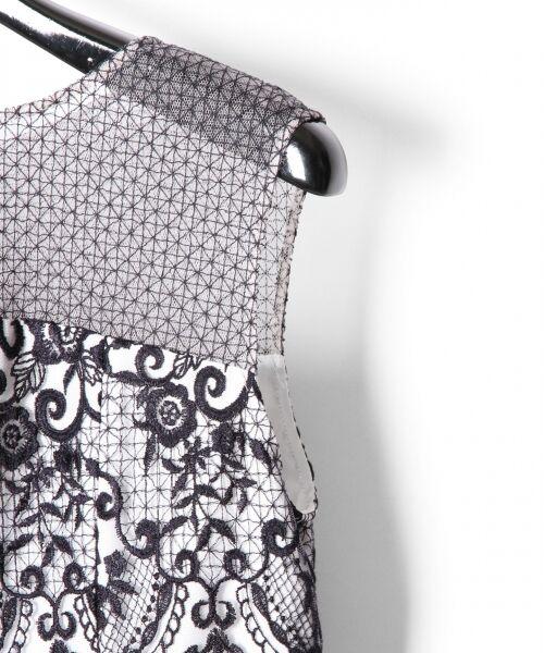 GRACE CONTINENTAL / グレースコンチネンタル ドレス | チュールレース刺繍タイトワンピース | 詳細6