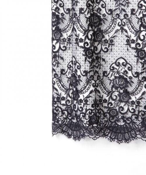 GRACE CONTINENTAL / グレースコンチネンタル ドレス | チュールレース刺繍タイトワンピース | 詳細8