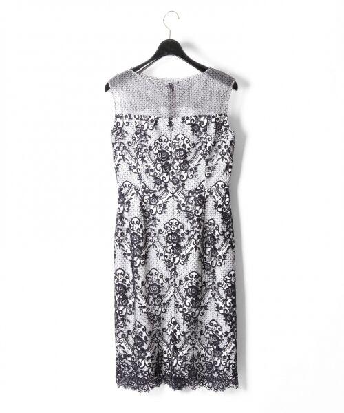 GRACE CONTINENTAL / グレースコンチネンタル ドレス | チュールレース刺繍タイトワンピース | 詳細10