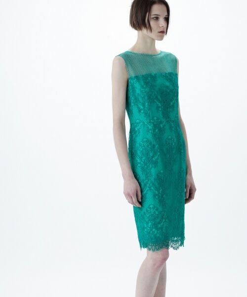 GRACE CONTINENTAL / グレースコンチネンタル ドレス | チュールレース刺繍タイトワンピース | 詳細11