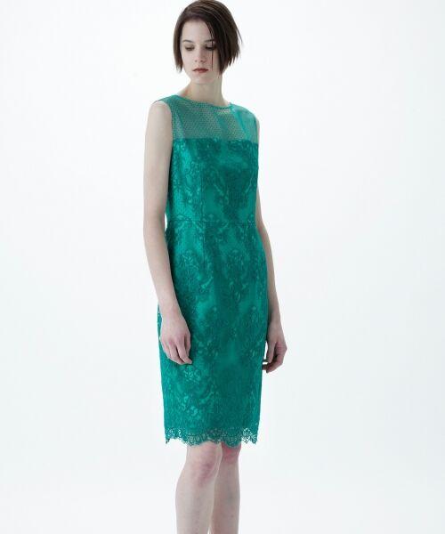 GRACE CONTINENTAL / グレースコンチネンタル ドレス | チュールレース刺繍タイトワンピース | 詳細12