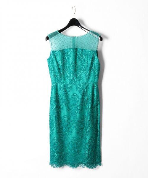 GRACE CONTINENTAL / グレースコンチネンタル ドレス | チュールレース刺繍タイトワンピース | 詳細13