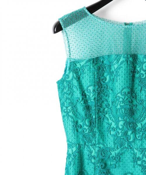 GRACE CONTINENTAL / グレースコンチネンタル ドレス | チュールレース刺繍タイトワンピース | 詳細14