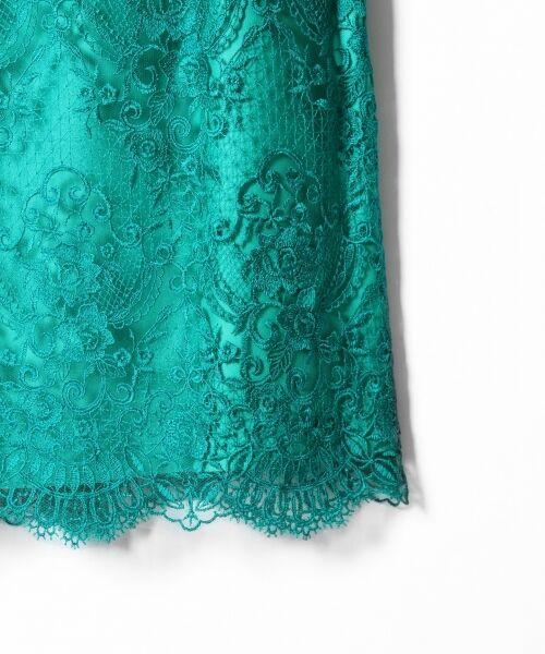 GRACE CONTINENTAL / グレースコンチネンタル ドレス | チュールレース刺繍タイトワンピース | 詳細15