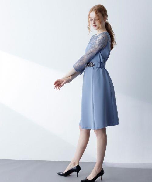GRACE CONTINENTAL / グレースコンチネンタル ドレス | ビジューベルトワンピース | 詳細1