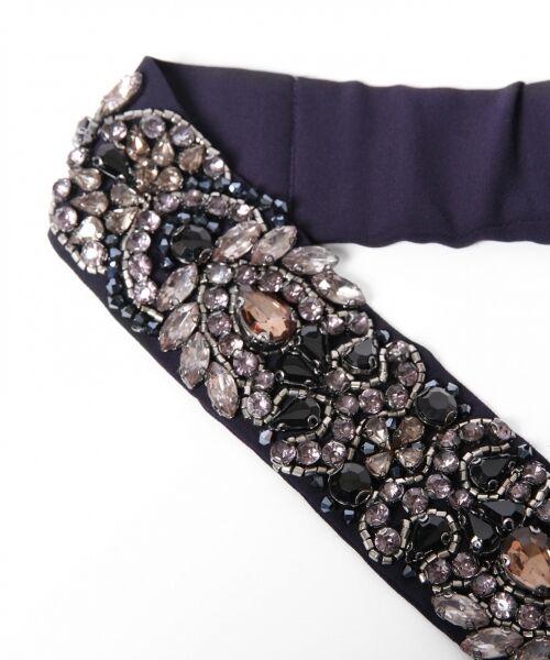 GRACE CONTINENTAL / グレースコンチネンタル ドレス | ビジューベルトワンピース | 詳細12