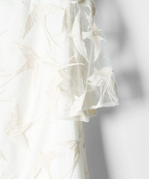 GRACE CONTINENTAL / グレースコンチネンタル ドレス | バードチュールワンピース | 詳細1